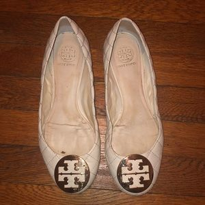 Tory Burch reva flats white quilted sz 8.5 shoes
